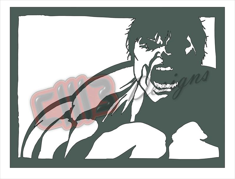 Incredible Hulk Wall Art DXF