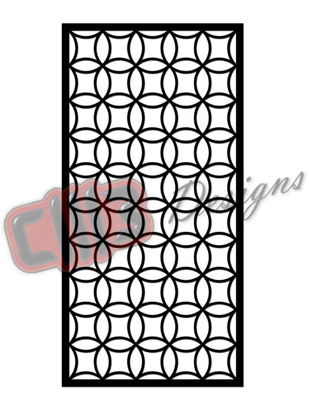 Room Divider Panel Screen with Chinese Fretwork DXF designs