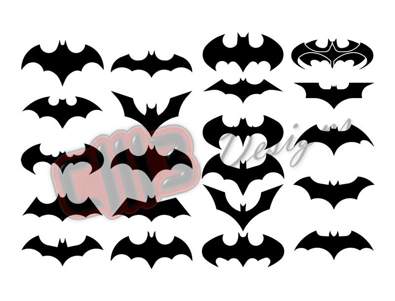 Batman Pack 21 Logos DXF File