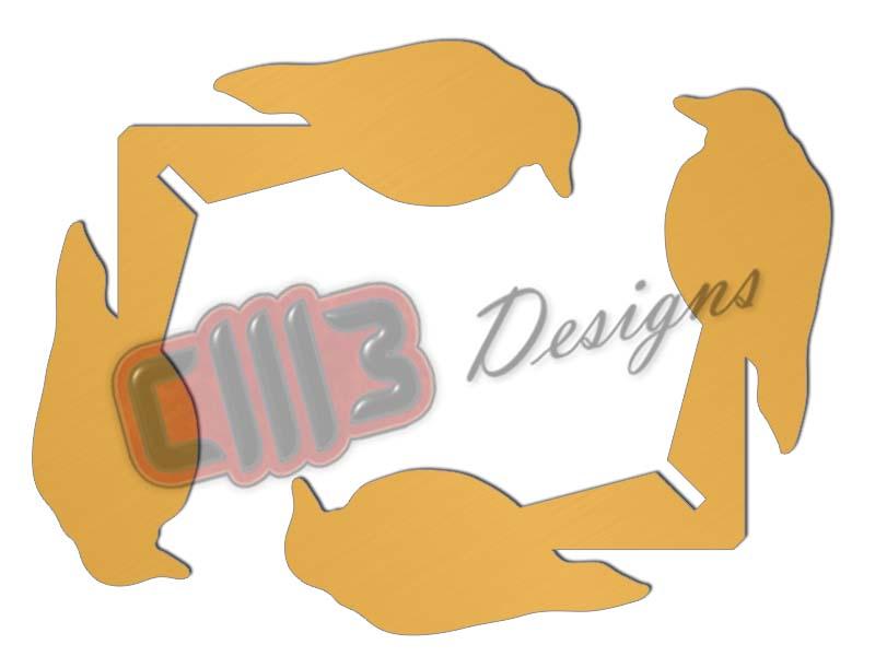 Walking Bird 22 Cal Range Shooting Target DXF designs