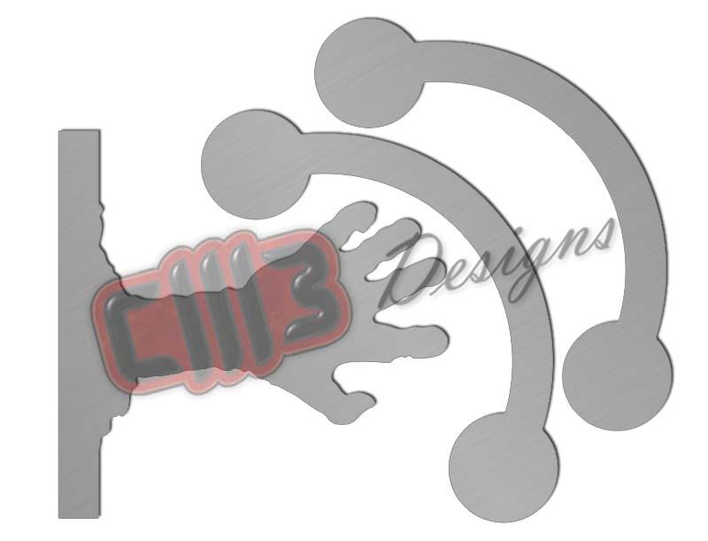 Rocking Zombie Hand Range Shooting Target DXF designs