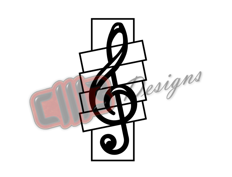 Treble Clef Wall Hanging Art