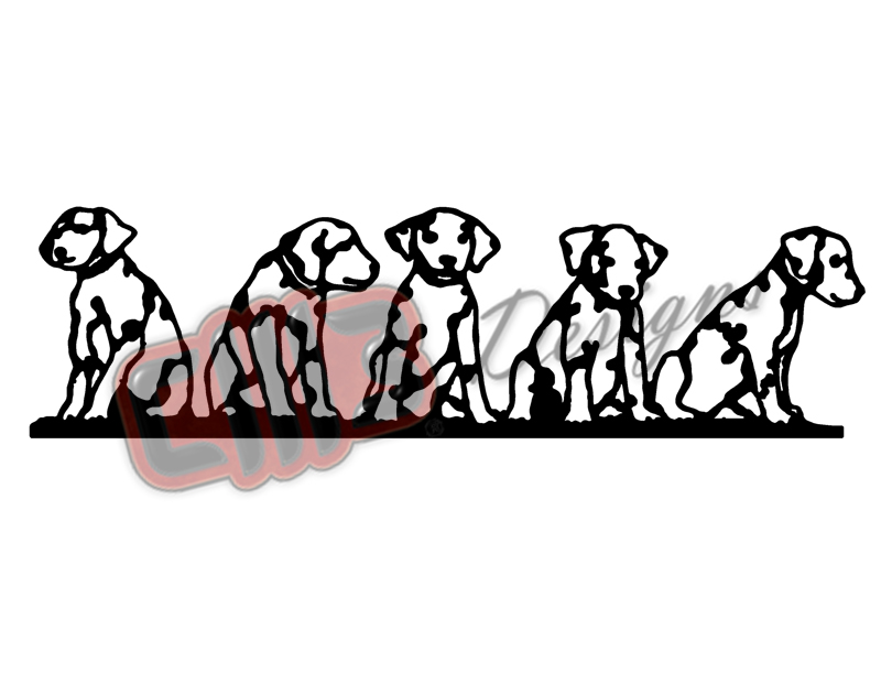 Dalmatian Puppy's Wall Art Design