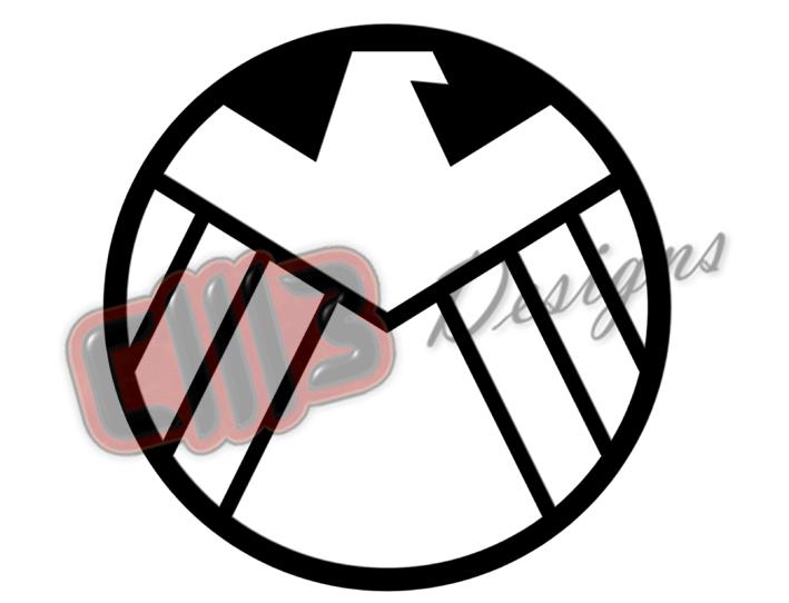Marvel Agents of Shield Logo DXF File Design