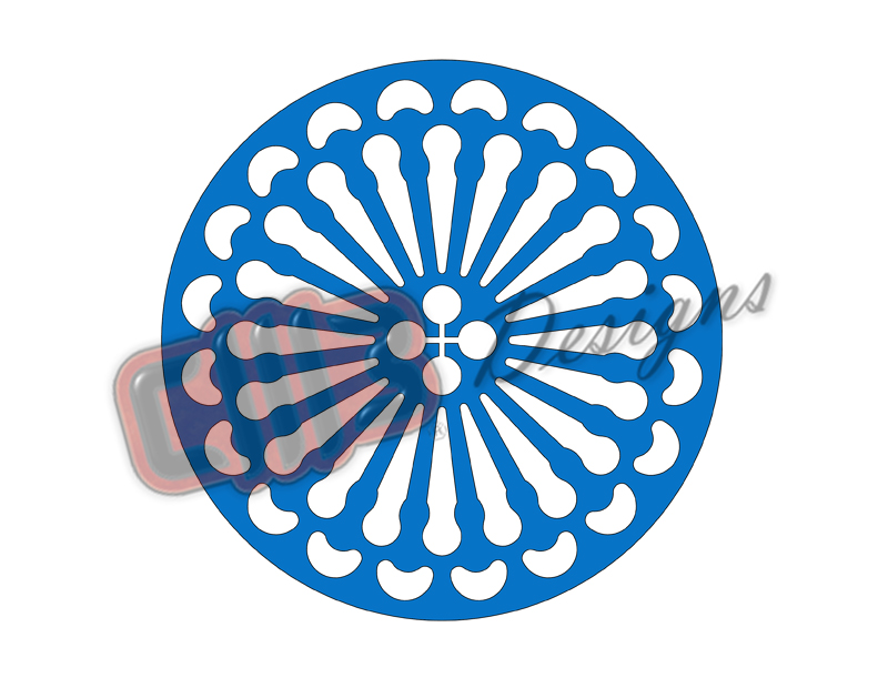 Round Fan Wall Art Design