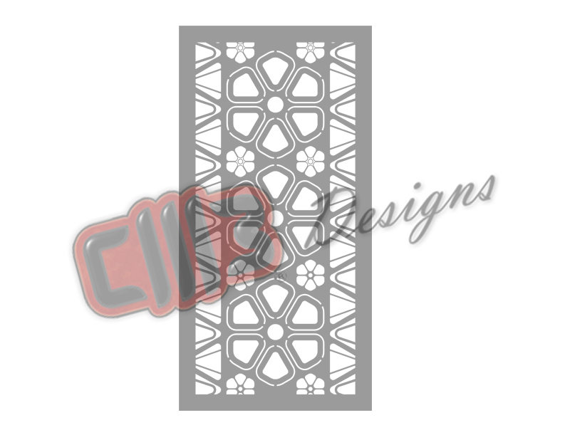 Room Divider Panel Screen with Floral DXF design