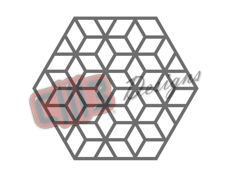 Rhombus Hexagon Wall Art Grid Panel Design
