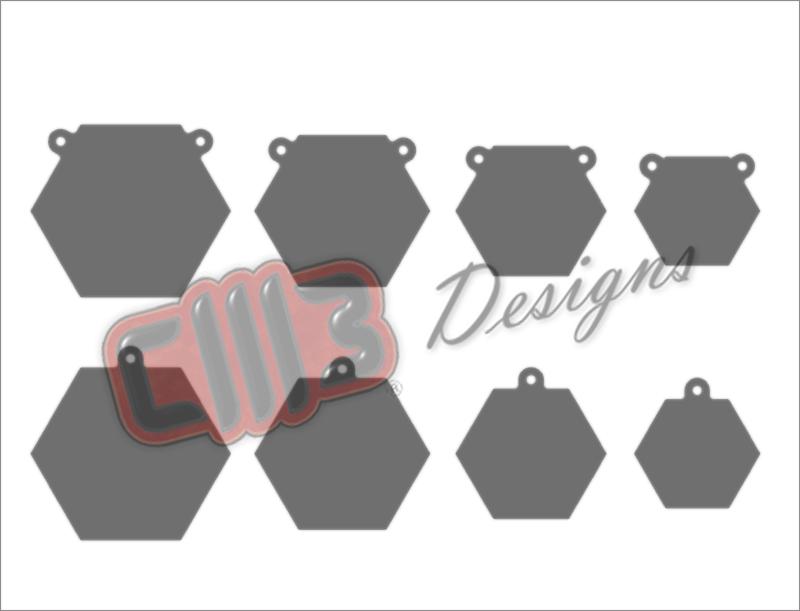 Shooting Target Gongs DXF designs