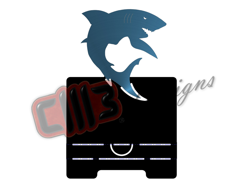Shark Business Card Holder DXF Design